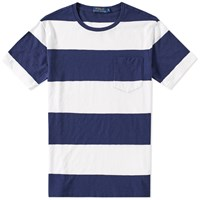 Polo Ralph Lauren Wide Stripe Pocket Tee Blue