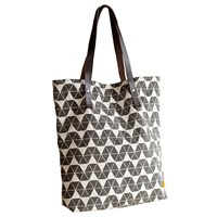 Mulxiply Canvas And Leather Tote Grey