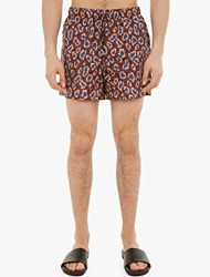 Acne Studios Perry Leopard Print Swimshorts