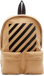 Off White Camel Wool Backpack