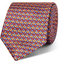 Turnbull And Asser 8Cm Silk Jacquard Tie Orange