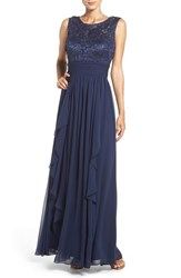 Eliza J Women's Lace And Chiffon Gown