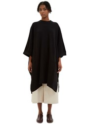 Kowtow Place To Be Oversized Jersey Cape Sweater Black