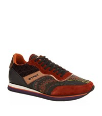 Etro Paisley Mixed Fabric Trainer Male