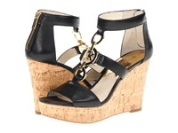 Michael Michael Kors Hyden Wedge Black Nappa Cork Women's Wedge Shoes
