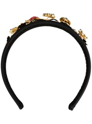 Dolce And Gabbana Ladybird Embellished Hair Band Black