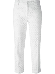 P.A.R.O.S.H. 'Cosangil' Cropped Trousers White