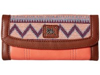 The Sak Iris Flap Wallet Guava Patch Wallet Handbags Brown