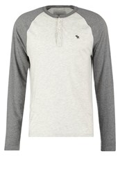 Abercrombie And Fitch Muscle Fit Long Sleeved Top Grey