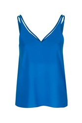 Topshop Double Strap V Front Cami Bright Blue