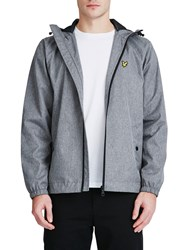 Lyle And Scott Zip Through Hooded Jacket Grey