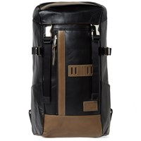 Master Piece Leather Over Backpack Black