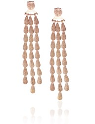 Sophia Kokosalaki Rose Gold Lunar Drop Earrings