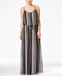 City Triangles City Studios Juniors' Printed Popover Maxi Dress Black