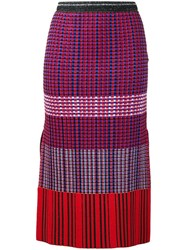 Proenza Schouler Knitted Pencil Skirt Red