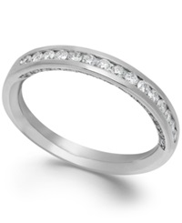 Macy's Idealmark Certified Diamond Channel Ring In Platinum 1 2 Ct. T.W.