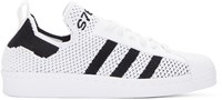 Adidas White Superstar 80S Primeknit Sneakers