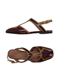 Marni Footwear Ballet Flats Women Deep Purple