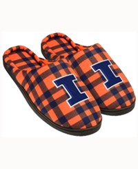 Forever Collectibles Illinois Fighting Illini Flannel Slide Slippers Navy