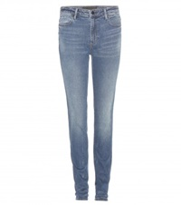 Wang 001 High Rise Skinny Jeans Blue