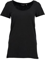 Garcia Long Cotton T Shirt Black