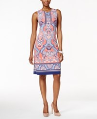 Jm Collection Printed Sleeveless Dress Only At Macy's Pink