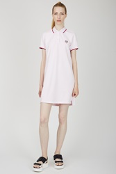 Kenzo Tiger Pique Polo Dress Faded Pink