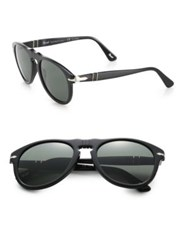Persol Retro Keyhole Sunglasses Black