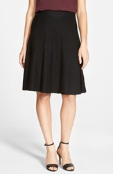 Petite Women's Nic Zoe Panel Twirl Skirt Black Onyx