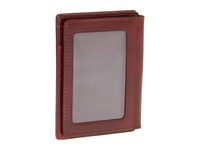 Bosca Old Leather Collection Front Pocket Wallet Cognac Leather Bill Fold Wallet Brown
