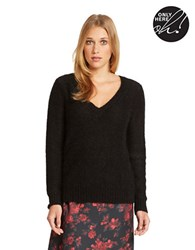 424 Fifth V Neck Sweater Black