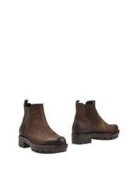 Manufacture D'essai Ankle Boots Dark Brown
