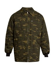 Alexander Wang Camouflage Print Padded Field Jacket Green Multi