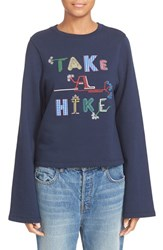 Opening Ceremony Women's 'Take A Hike' Embroidered Cotton Sweatshirt