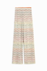 Missoni Lurex Zigzag Trousers Gold