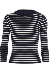 Nlst Sailor Striped Merino Wool Sweater Blue