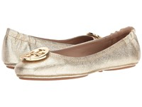Tory Burch Minnie Travel Ballet Spark Gold Women's Shoes Brown