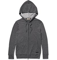 Burberry Cashmere Zip Up Hoodie Dark Gray