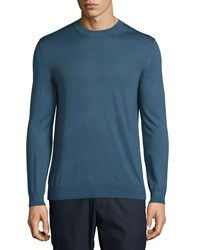 Theory Berthes Admiral Cashmere Blend Crewneck Sweater Blue Men's