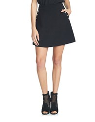 1.State A Line Button Detailed Mini Skirt Rich Black