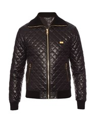 Dolce And Gabbana Quilted Bomber Jacket Black