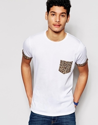 Another Influence Pattern Pocket T Shirt White