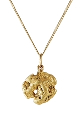 Golpira Worldcitizen 14Kt Gold Chain With 5Gr Gold Nugget Pendant