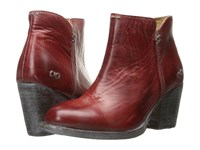 Bed Stu Yell Red Rustic Blue Leather Women's Boots Burgundy