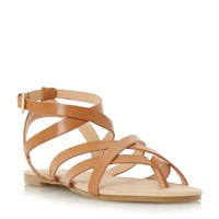 Head Over Heels Lavella Strappy Gladiator Sandals Tan