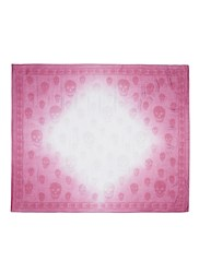 Alexander Mcqueen Ombre Classic Skull Print Modal Blend Scarf Pink
