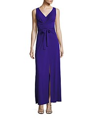 Bcbgmaxazria Mae Slit Maxi Dress Royal Blue