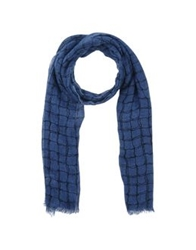 Destin Oblong Scarves Blue