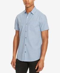 Kenneth Cole Reaction Men's Check Shirt Clear Water Combo