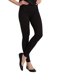 Spanx Textured Panel Leggings Very Black